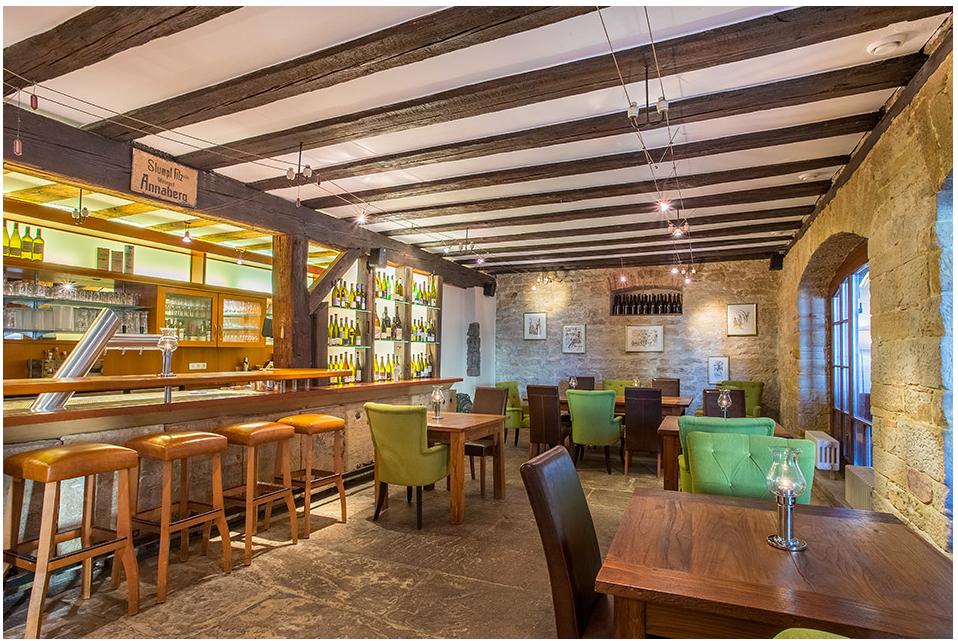 Das hoteleigene Restaurant mit Spezialitäten aus Küche und Keller