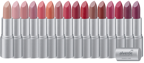 01 Café au Lait (NEU), 02 Dusty Nude, 03 Rosy Nude (NEU), 04 Berry, 05 Dusty Pink, 06 Starlight Coral, 07 Primrose, 08 Cherry, 09 Cranberry, 10 Elegant Red, 26 Chai Latte, 27 Simply Brown, 28 Pink Magnolia, 29 Fuchsia, 30 Dark Plum, 31 Deep Violet