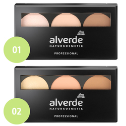 alverde Professional Contouring Kit (01 light, 02 medium)