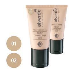 alverde Professional Teint Corrector Duo (01 fresh nude, 02 warm gold)