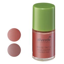 alverde Rouge Tint & Highlighter (Vintage Pink, Macaron)