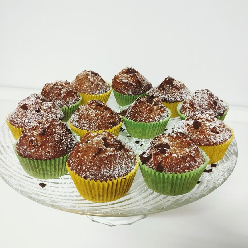 Haselnuss-Nutella-Muffin mit Schokoladenkern