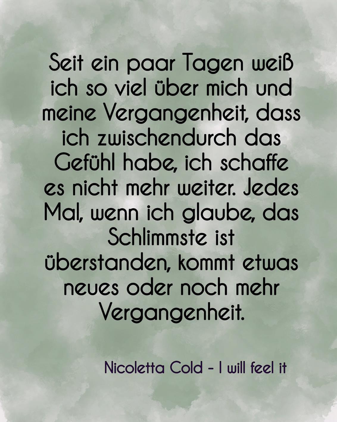 I will feel it